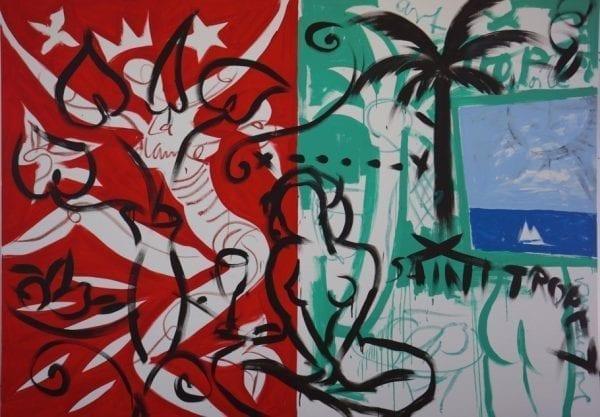 Pool Scene | Painting by Stefan Szczesny | 2021 | Acrylic on Canvas | buy online | Szczesny Art Shop