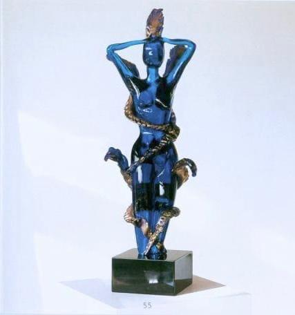 Stefan Szczesny Blue Woman | Sculpture by Stefan Szczesny | 2018 | Sculpture | buy online | Szczesny Art Shop