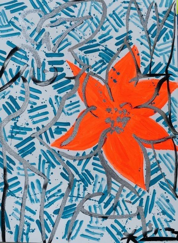 Stefan Szczesny Christmas Flower of Cote d'Azur | Painting by Stefan Szczesny | 2019 | Acrylic on Canvas | buy online | Szczesny Art Shop