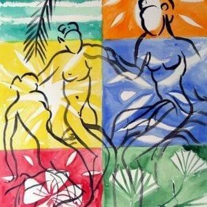 Stefan Szczesny Mystique 4   Painting by Stefan Szczesny   2009   Watercolors on Paper   buy online   Szczesny Art Shop
