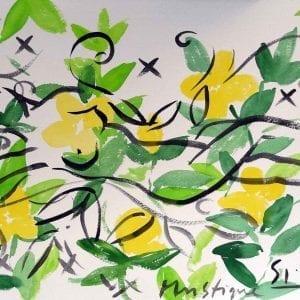 Stefan Szczesny Mystique 13   Painting by Stefan Szczesny   2021   Watercolors on Paper   buy online   Szczesny Art Shop