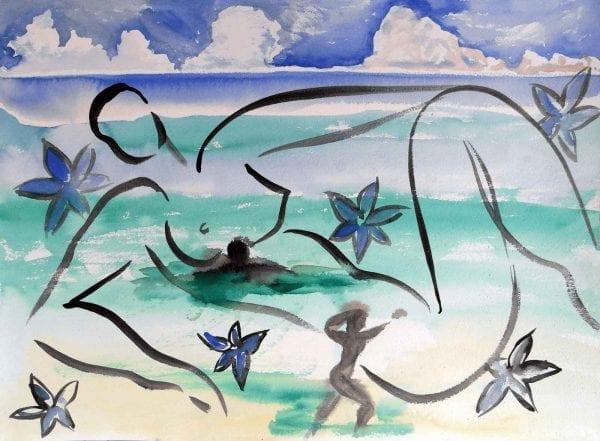 Stefan Szczesny Mystique 5 | Painting by Stefan Szczesny | 2009 | Watercolors on Paper | buy online | Szczesny Art Shop