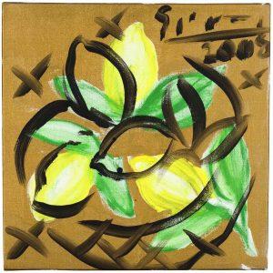 Still Life of Lemons | Painting by Stefan Szczesny | 2008 | Acrylic on Canvas | buy online | Szczesny Art Shop