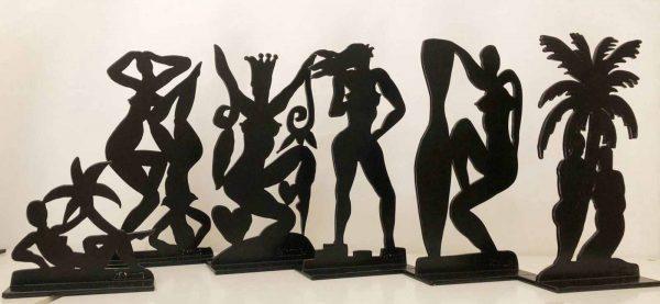Stefan Szczesny Miniature Set 3 | Sculpture by Stefan Szczesny | 2018 | Acrylic on Canvas | buy online | Szczesny Art Shop