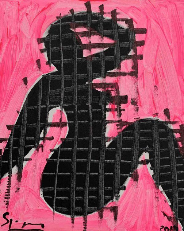 Woman in Black | Painting by Stefan Szczesny | 2019 | Acrylic on Canvas | buy online | Szczesny Art Shop