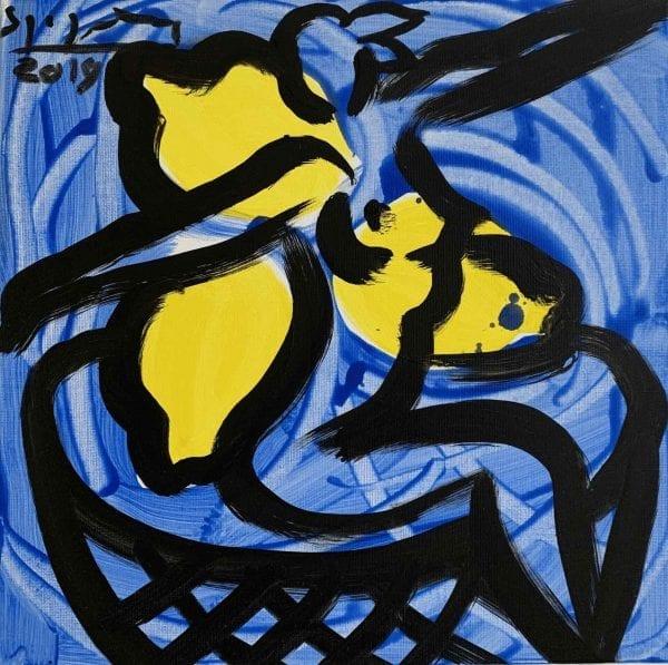Act with Lemons   Painting by Stefan Szczesny   2021   Acrylic on Canvas   buy online   Szczesny Art Shop