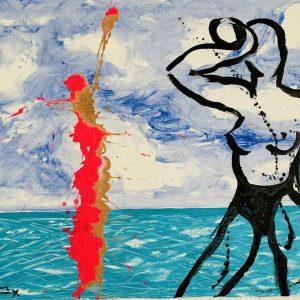 Les Baigneurs | Painting by Stefan Szczesny | 2018 | Acrylic on Canvas | buy online | Szczesny Art Shop
