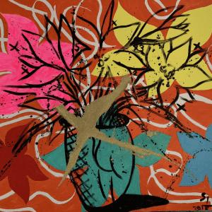 Fleurs d'automne | Painting by Stefan Szczesny | 2018 | Acrylic on Canvas | buy online | Szczesny Art Shop