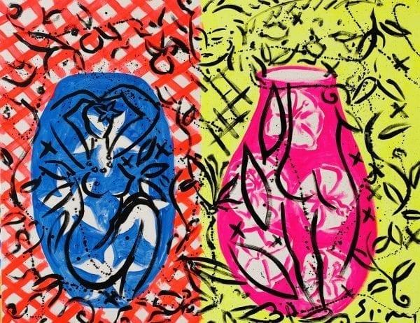 Zwei Vasen | Painting by Stefan Szczesny | 2020 | Acrylic on Canvas | buy online | Szczesny Art Shop