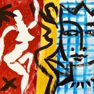 o.T. | Painting by Stefan Szczesny | 2020 | Acrylic on Paper | buy online | Szczesny Art Shop
