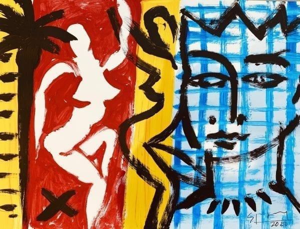o.T.   Painting by Stefan Szczesny   2020   Acrylic on Paper   buy online   Szczesny Art Shop