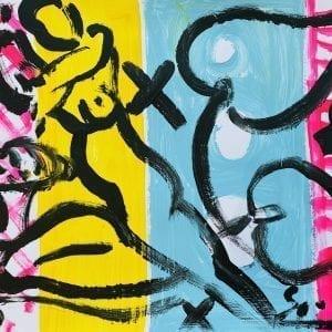 o.T | Painting by Stefan Szczesny | 2020 | Acrylic on Paper | buy online | Szczesny Art Shop
