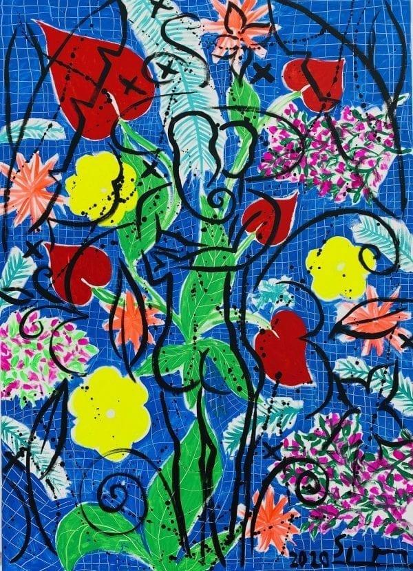 Lovers | Painting by Stefan Szczesny | 2020 | Acrylic on Canvas | buy online | Szczesny Art Shop