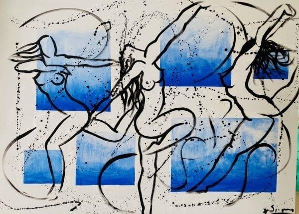 Dancing in the Air   Painting by Stefan Szczesny   2020   Acrylic on Canvas   buy online   Szczesny Art Shop