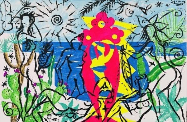 The Mediterranen Spirit   Painting by Stefan Szczesny   2021   Acrylic on Canvas   buy online   Szczesny Art Shop