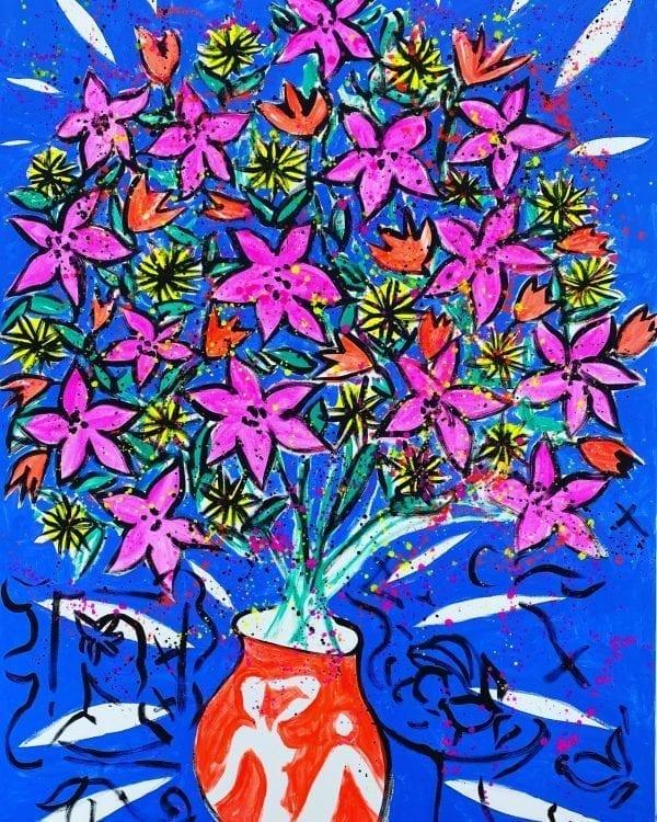 Herbstlicher Blumenstrauss | Painting by Stefan Szczesny | 2020 | Acrylic on Canvas | buy online | Szczesny Art Shop
