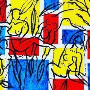 Mondrians Ballet | Painting by Stefan Szczesny | 2020 | Acrylic on Canvas | buy online | Szczesny Art Shop