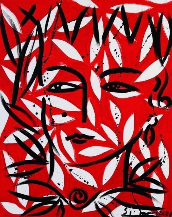 Eva   Painting by Stefan Szczesny   2021   Acrylic on Canvas   buy online   Szczesny Art Shop