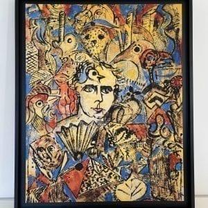 Hommage a Max Ernst | Painting by Stefan Szczesny | 2021 | Print | buy online | Szczesny Art Shop