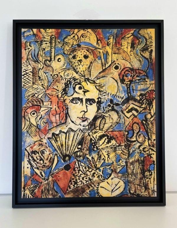 Hommage a Max Ernst   Painting by Stefan Szczesny   2021   Print   buy online   Szczesny Art Shop