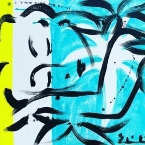 Schlafende Muse | Painting by Stefan Szczesny | 2021 | Acrylic on Canvas | buy online | Szczesny Art Shop