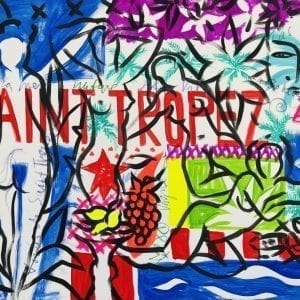 Saint-Tropez Beachlife | Painting by Stefan Szczesny | 2021 | Acrylic on Canvas | buy online | Szczesny Art Shop