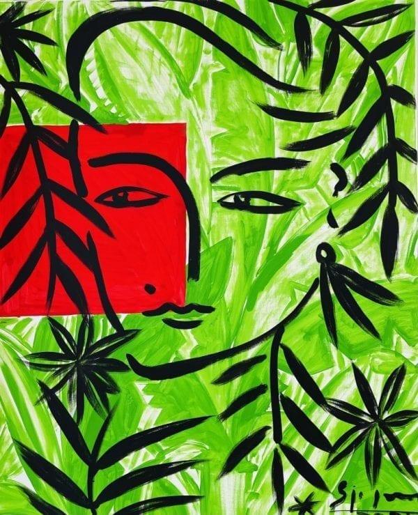 o.T. (Eva)   Painting by Stefan Szczesny   2021   Acrylic on Canvas   buy online   Szczesny Art Shop