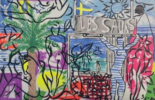 Un ete aux Salins   Painting by Stefan Szczesny   2021   Acrylic on Canvas   buy online   Szczesny Art Shop
