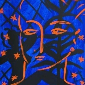 o.T. (Night Face) | Painting by Stefan Szczesny | 2021 | Acrylic on Canvas | buy online | Szczesny Art Shop