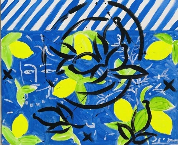Nature morte aux citrons | Painting by Stefan Szczesny | 2021 | Acrylic on Canvas | buy online | Szczesny Art Shop