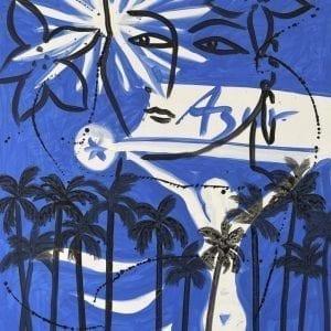 Azur | Painting by Stefan Szczesny | 2021 | Acrylic on Canvas | buy online | Szczesny Art Shop