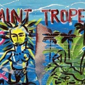 Saint-Tropez | Painting by Stefan Szczesny | 2021 | Acrylic on Canvas | buy online | Szczesny Art Shop