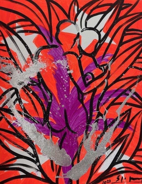 Liebespaar | Painting by Stefan Szczesny | 2021 | Acrylic on Canvas | buy online | Szczesny Art Shop