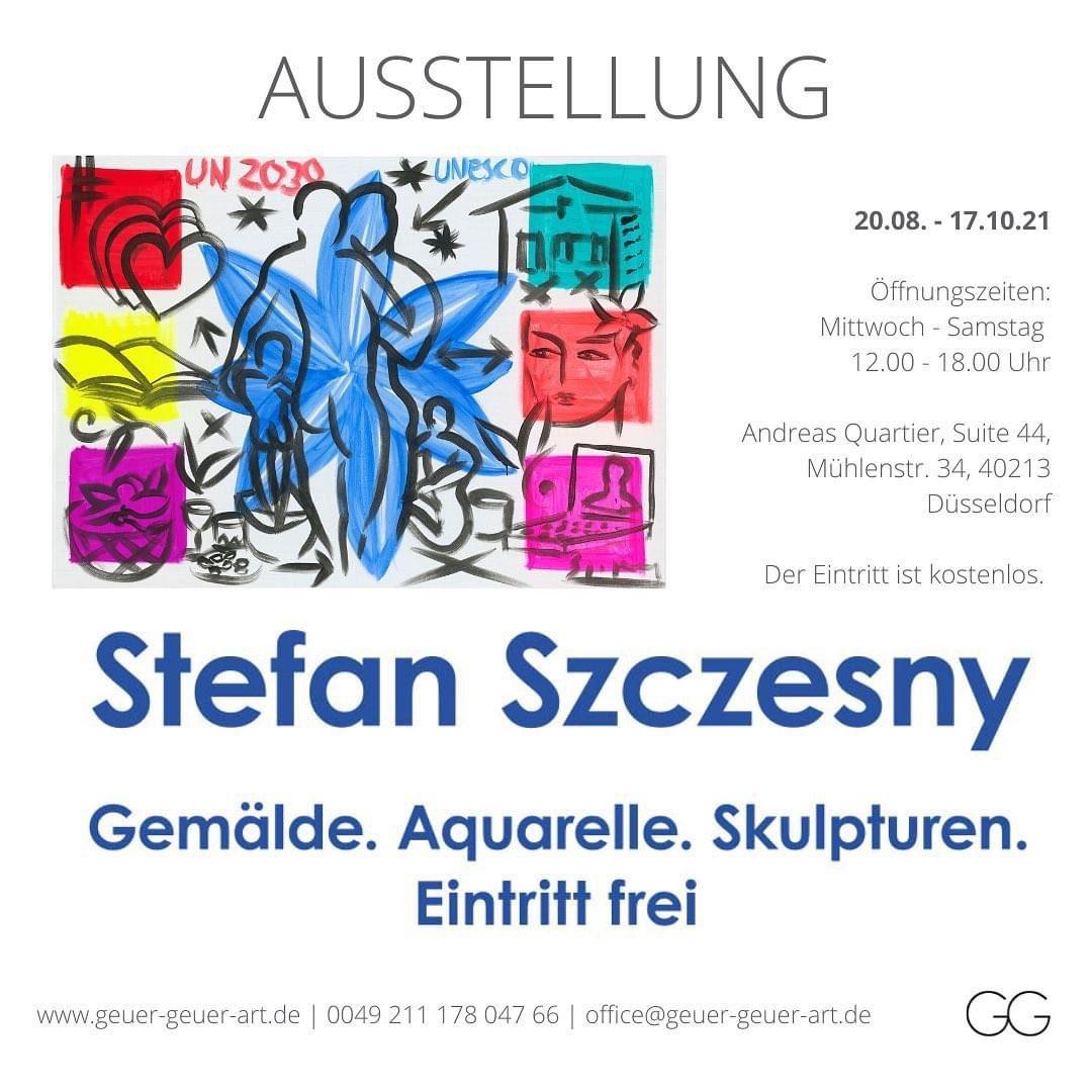 Stefan Szczesny Exhibition Duesseldorf | Sculptures and Paintings by Stefan Szczesny | 2021 | Sculptures and Paintings | buy online | Szczesny Art Shop